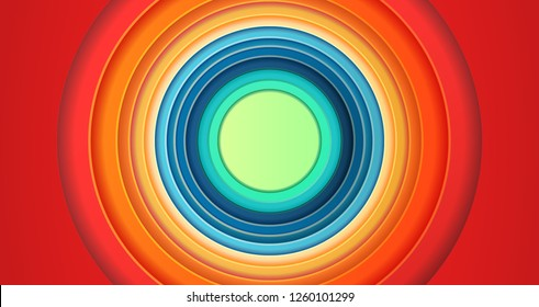 Colorful Circles Tunes background cartoon