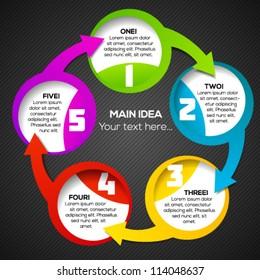 Colorful circular banner template for business presentation design. Vector illustration.