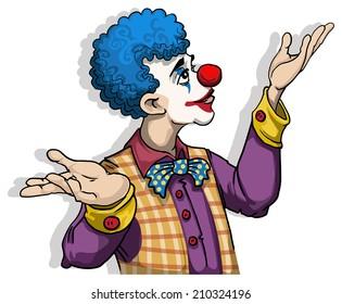 Colorful Clown, vector illustration
