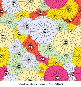 Colorful Cocktail umbrellas - seamless pattern
