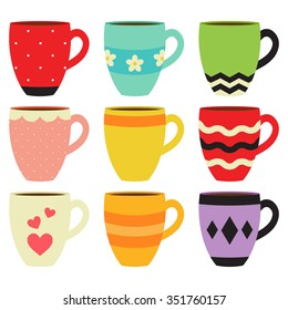 Colorful Coffee Mug Collection