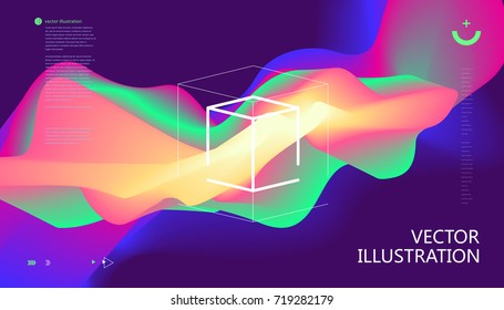 Colorful color gradients, abstract background.