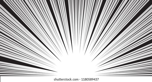 colorful Comic and manga books speed lines background. light explosion background. vector illustration design