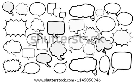 Colorful Comic Speech Bubble Collections Stock Vector Royalty Free
