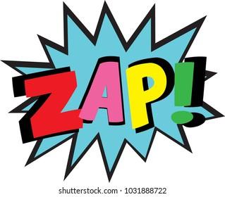 colorful comic speech bubbles zap vector illustration