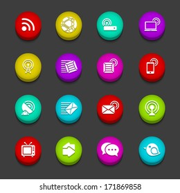 Colorful Communication Buttons
