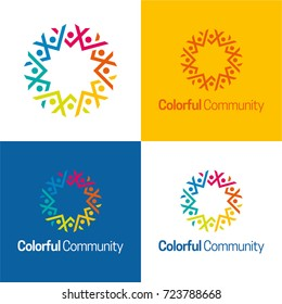 Colorful Community Icon and Logo - Vector Illustration
