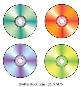 Colorful compact discs