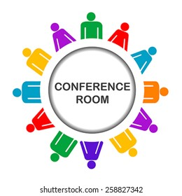 Colorful conference room icon