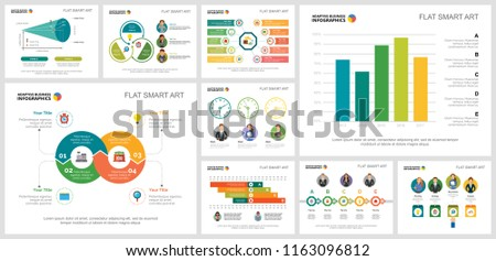 colorful consulting workflow concept infographic charts stock vector