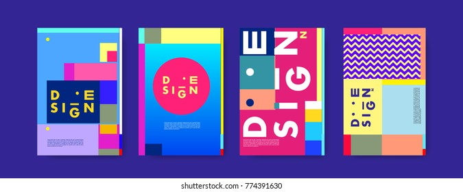 Colorful geometric poster and cover design. Minimal geometric pattern simple modern backgrounds. Eps10 vector.