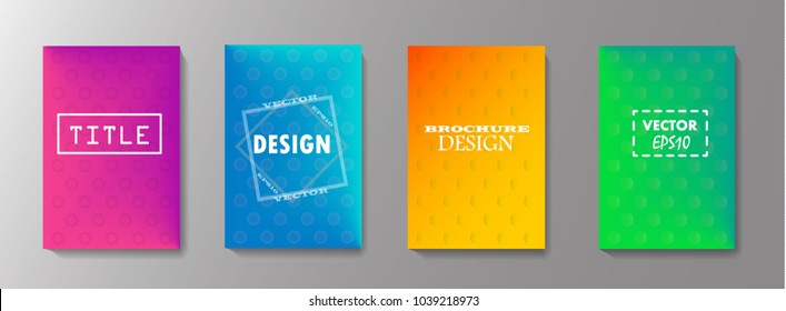 Colorful covers design. Minimal geometric pattern gradients. Eps10 vector.