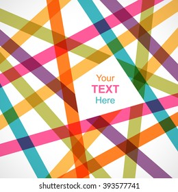 Colorful crossed lines abstract background with space for text. Pattern design for banner, poster, flyer, card, postcard, cover, brochure.