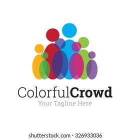 Colorful Crowd Logo