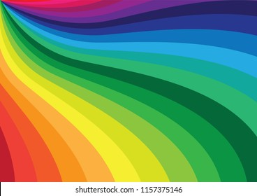 Colorful curve abstract background