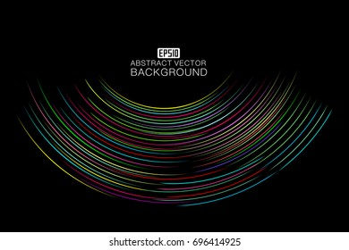 Colorful curve consisting of abstract background