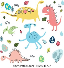 Colorful cute baby illustration is for a children's room.