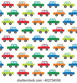 colorful cute car pattern