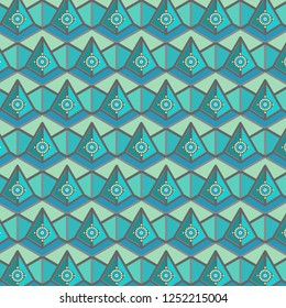 colorful decorated hexagonal pattern with decorative elements and 3D illusion. for textile, fabric, wallpaper, backdrops, backgrounds and elegant surface design templates. pattern swatch at eps. file