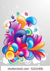 Colorful decorative element for your design