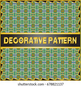 Colorful decorative geometric pattern background