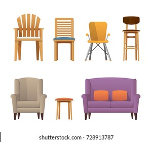 Colorful Decorative Modern Deisgn Wooden Chairs