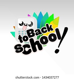 Colorful design. back to school composition. Eps10 vector.