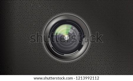 Colorful Design Camera Diafragma Stock Vector Royalty Free