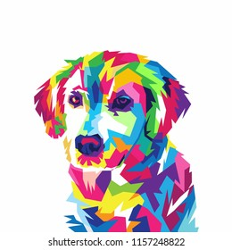 Colorful Dog Illustration