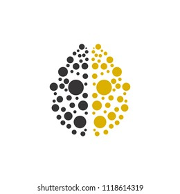 Colorful Dot Brain Icon Logo Design Element