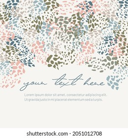 Colorful dots greeting card template design