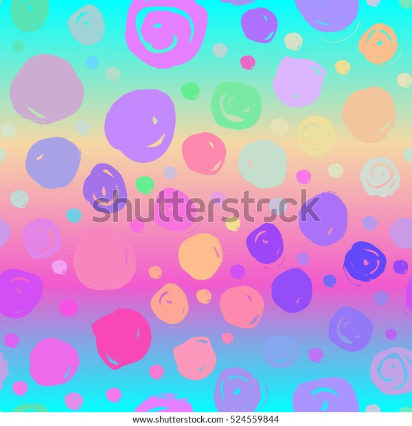 Colorful Dotted Retro Vintage 80s 90s Stock Vector (Royalty