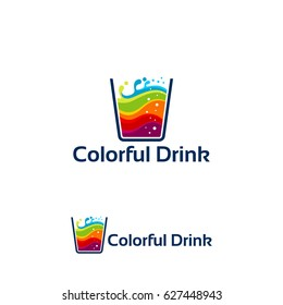 Colorful Drink logo, Colorful Juice Logo designs template