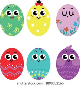 colorful easter egg clipart vector