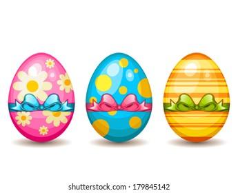 Colorful easter egg set