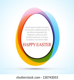 colorful easter eggs design illustration