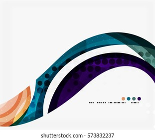 Colorful elegant flowing wave. Vector template background for workflow layout, diagram, number options or web design