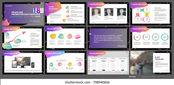 Colorful elements of presentation templates on a abstract background. Vector infographics. Use in Presentation, flyer and leaflet, corporate report, marketing, advertising, annual report, banner.
