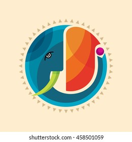 Colorful elephant creative design