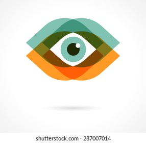 Colorful eye icon