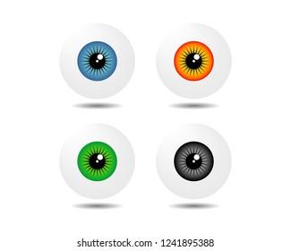 colorful eyeball vector, eye icon