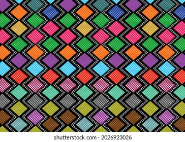 Colorful Fabric Pattern Background Image Stock Vector Download.