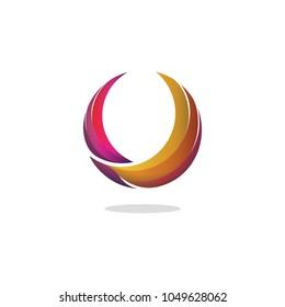 Colorful falcon logo, vector logo template