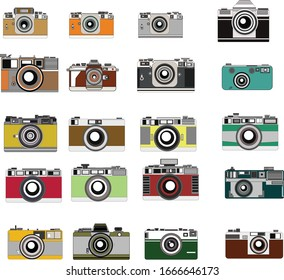Colorful Film Camera Vector Pattern