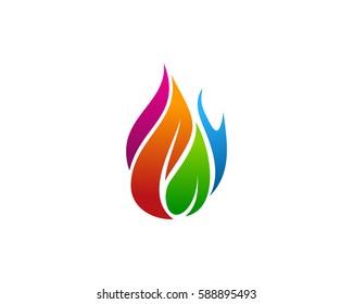 Colorful Fire Logo Design Element