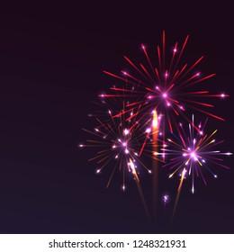 Colorful fireworks background for celebration