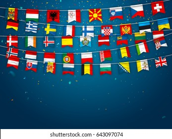 International Flag Banner Images Stock Photos Vectors