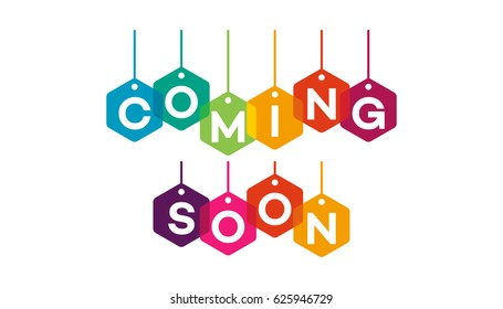 colorful and flat designs Coming Soon vector illustration designs
