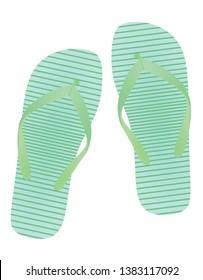 Colorful flip flops. vector illustration