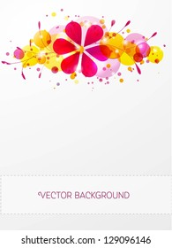 Colorful floral background. Vector illustration.